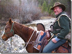 Bill Bunch on Ginger in Idaho's Frank Church in late elk hunt